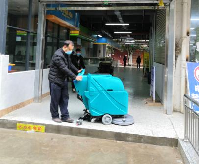 柳宝洗地机入驻柳州市柳江区新建市场服务中心